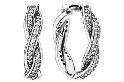 Pendientes PANDORA, TWIST OF FAITH HOOP EARRINGS