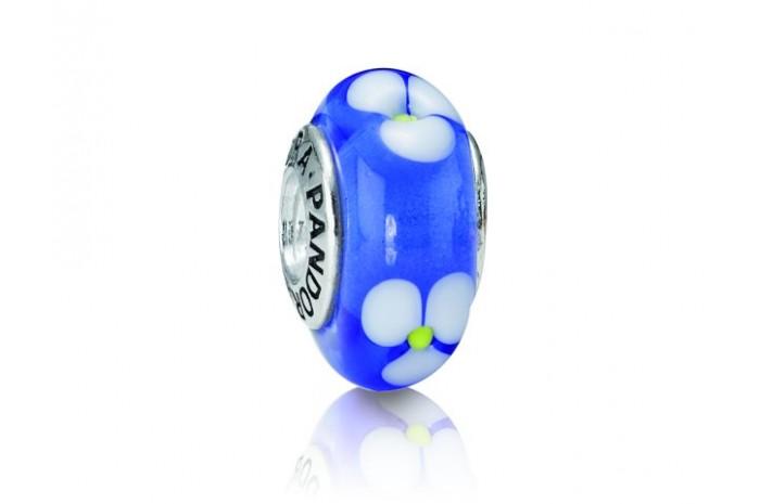 Abalorio de Cristal de Murano Azul