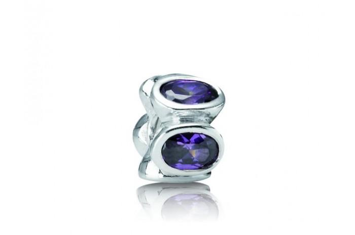 Abalorio PANDORA circonitas púrpura